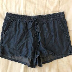 Aerie linen denim shorts